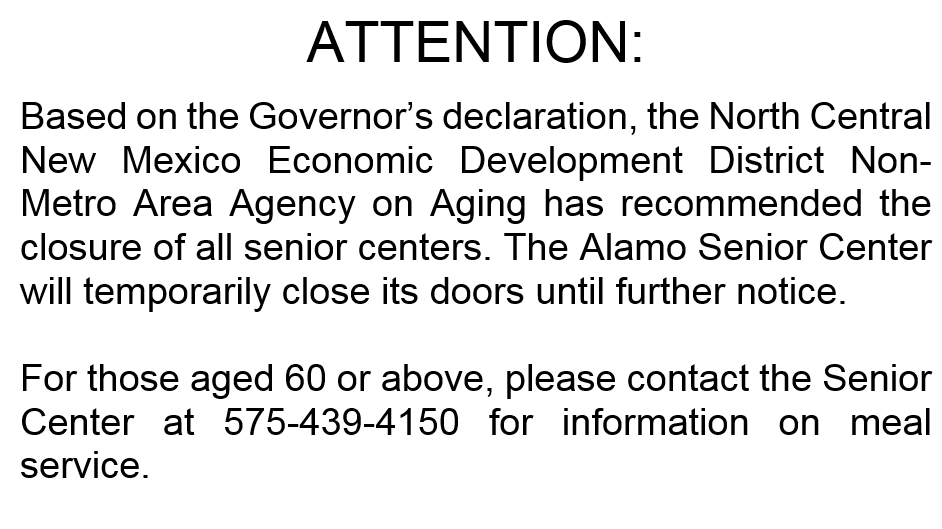 Information on Senior Center closure
