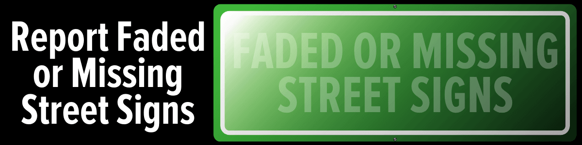 Faded Street Sign Button