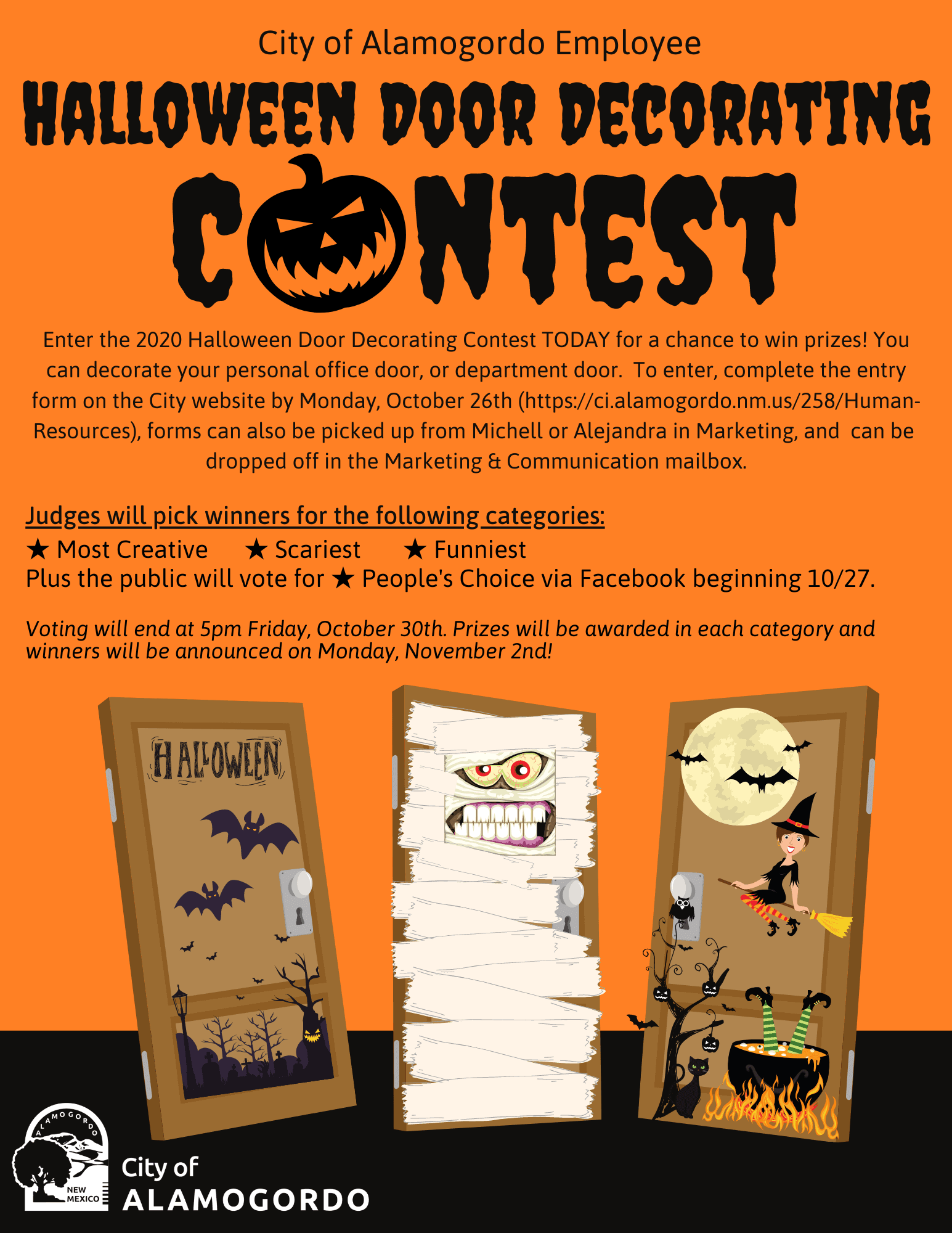 Halloween Door Decorating Contest Instructions