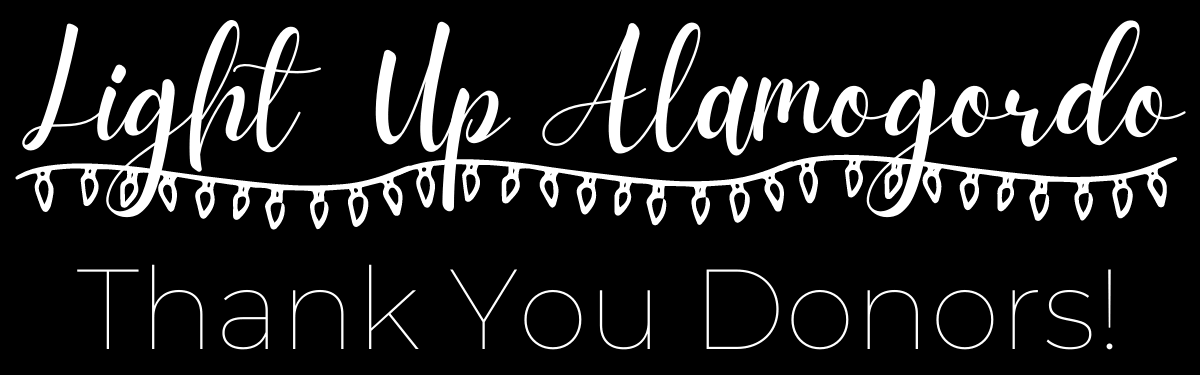 Light Up Alamogordo Thank you donors!